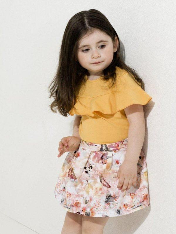 Dievčenská kvetovaná suknička s nastaviteľným pásom
