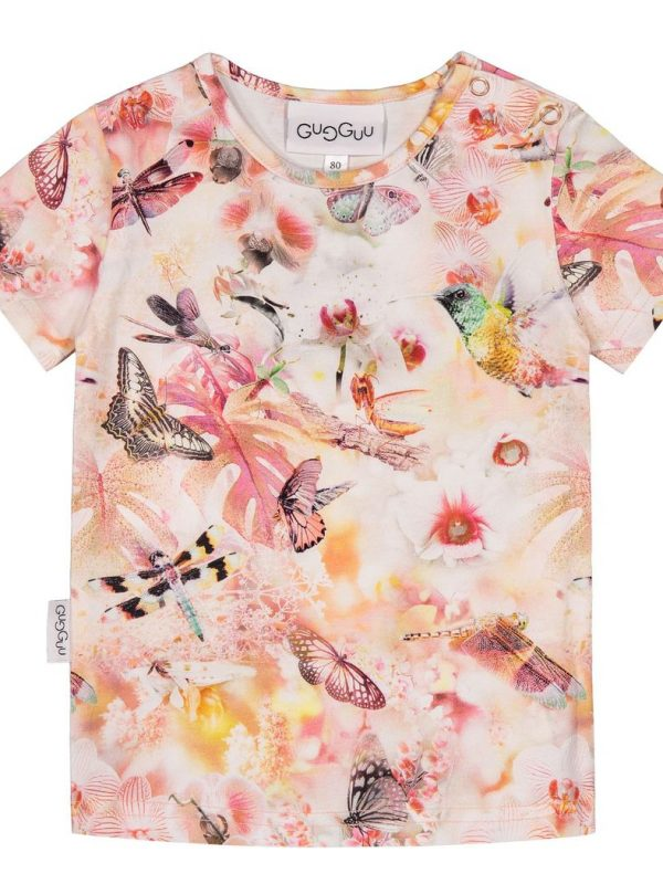 Kvetované tričko s krátkym rukávom