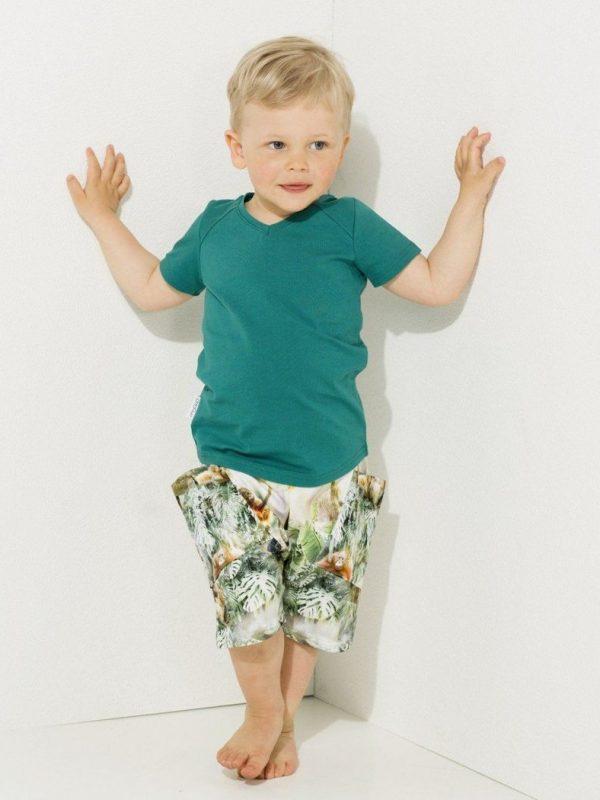 Farebné detské šortky Džungľa