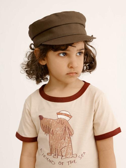 námornícka čiapka pre deti hnedá