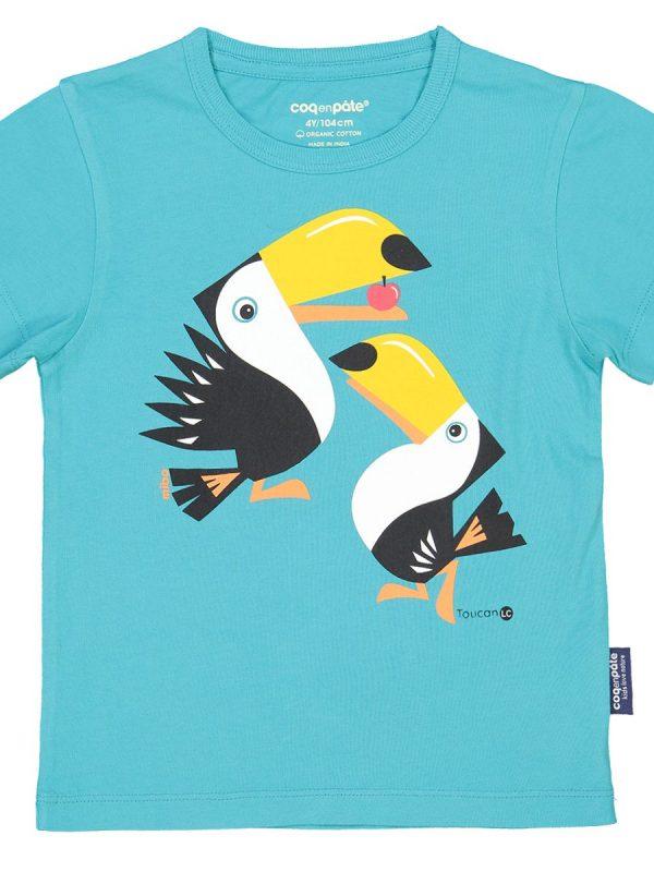 krátke tričko pre deti s potlačou tukana