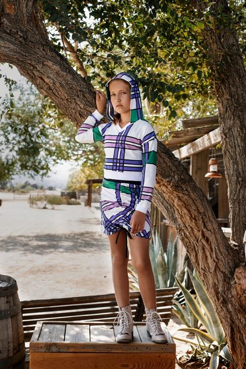 dievčenská károvaná mini sukňa