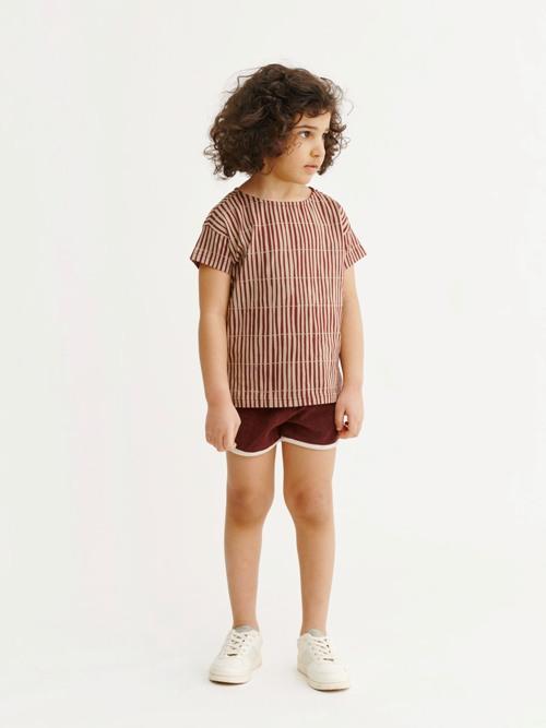 detské bavlnené tričko s pásikmi