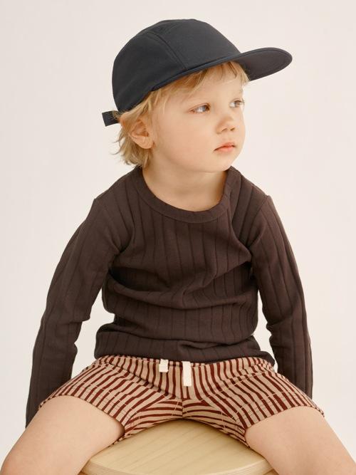 detské bavlnené šortky s pásikmi