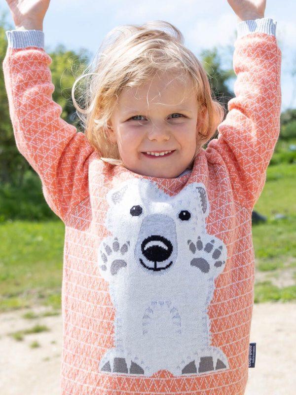 vlnený sveter polárny medveď